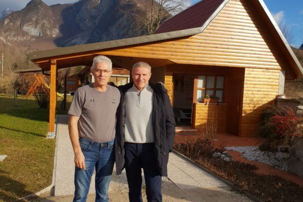 Atlasolog po HumanUP metodi Nikola Džalo in večratni svetovni rekorder v skoku s palico Sergej Bubka