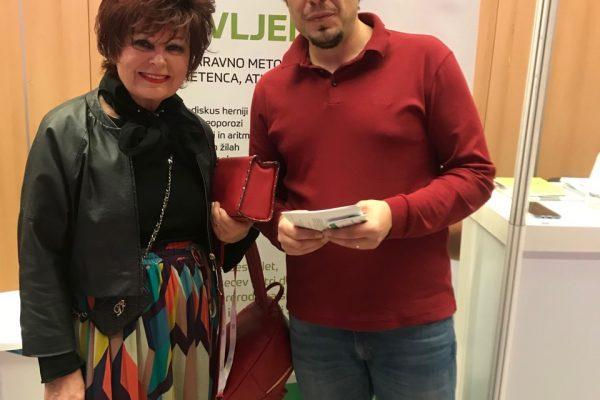 kozmetična kraljica Zdenka Kahne in Damnjan Damnjanović na dogodku 500 podjetnic