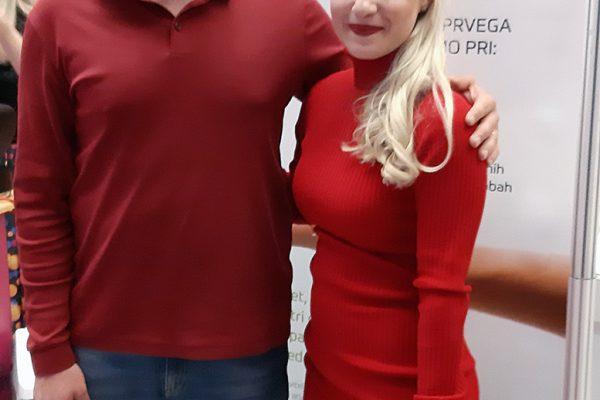 Kuharska mojstrica Ana Žontar Kristanc in Damnjan Damnjanović na dogodku 500 podjetnic