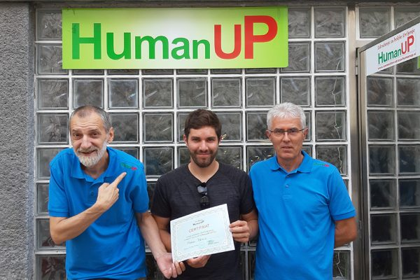 Predrag Đorđević, Marko in Nikola Džalo po izpitu za HumanUP atlasologa