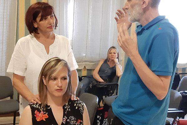 Atlasologa Slađana Grujić in Predrag Đorđević na izpitu za HumanUP atlasologinjo_1